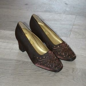 Shoes - Brown chuky heels